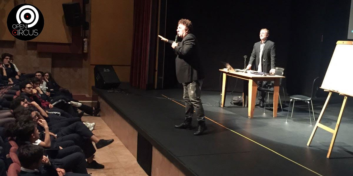 David Larible incontro con gli studenti del Colegio Leonardo Da Vinci 22 Maggio