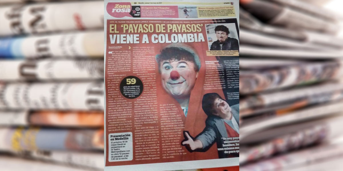 El payaso de payasos viene a Colombia