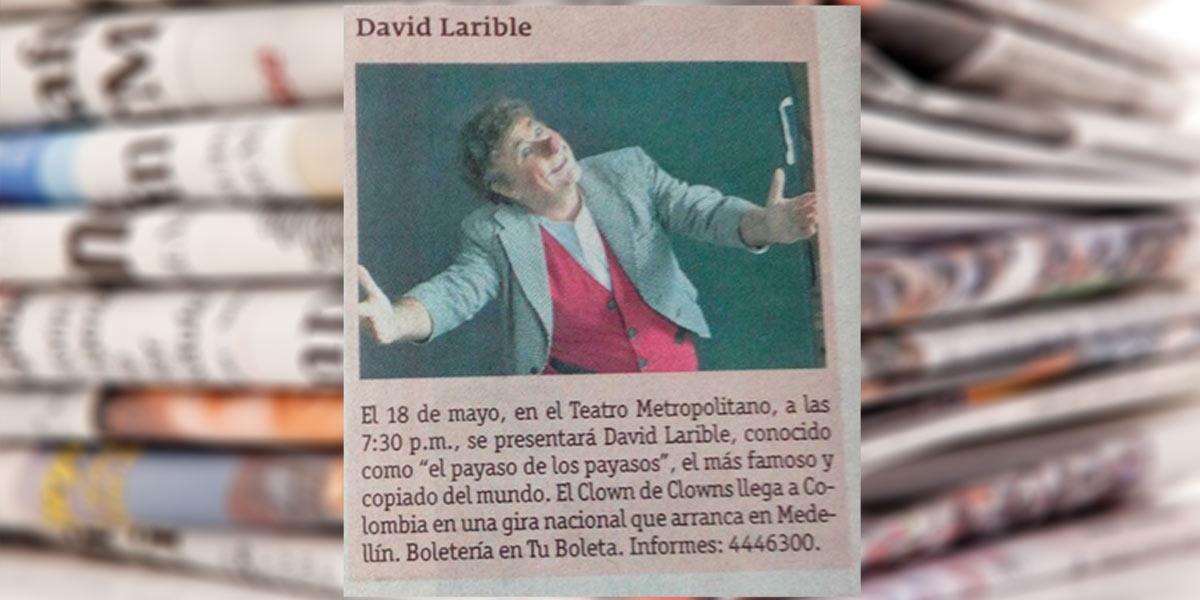 David Larible Al teatro metropolitano