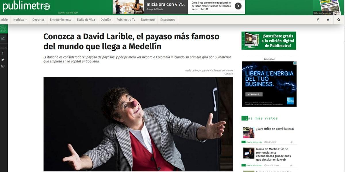 Conozca a David Larible el payaso mas famoso del mundo que llega a Medellin