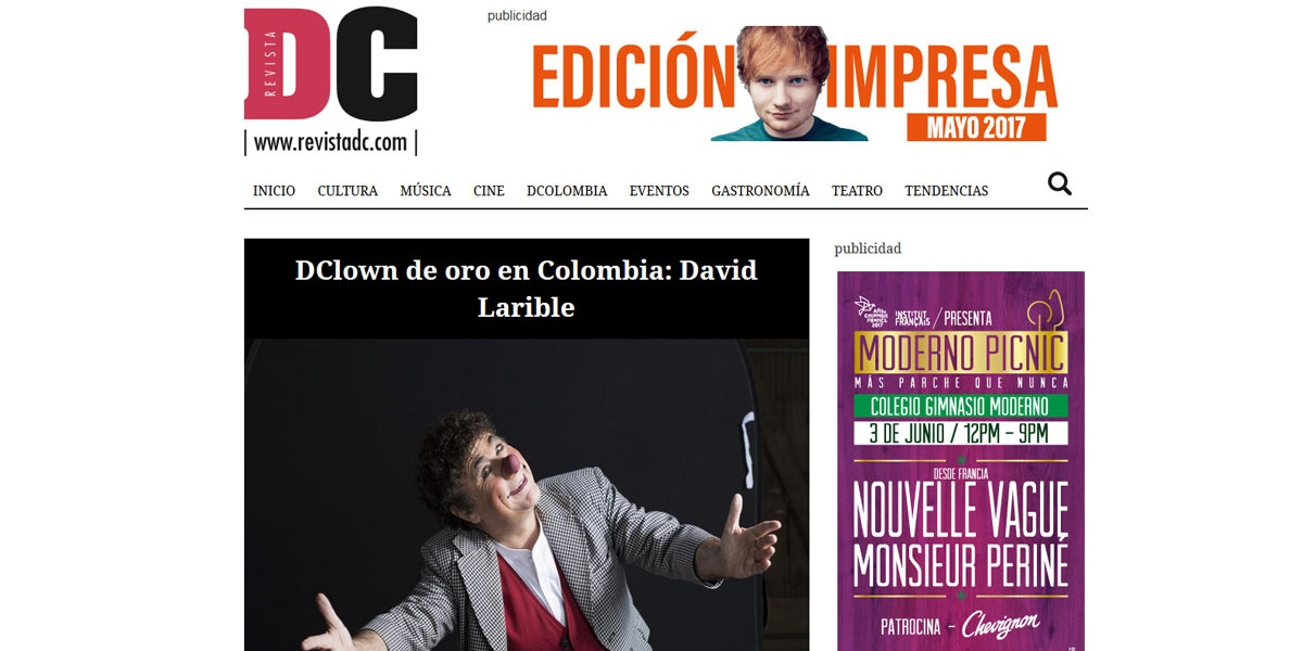 Clown de oro en Colombia David Larible