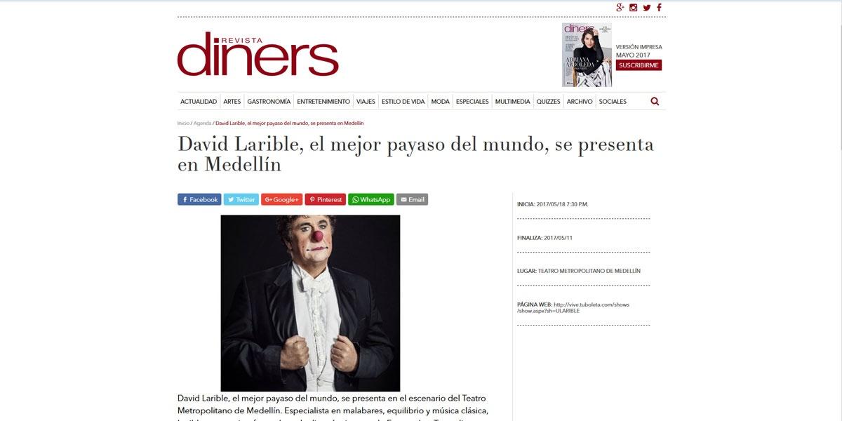 David Larible, el mejor payaso del mundo, se presenta en Medellín