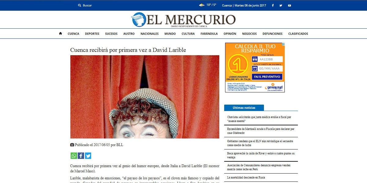 Cuenca recibirá por primera vez a David Larible