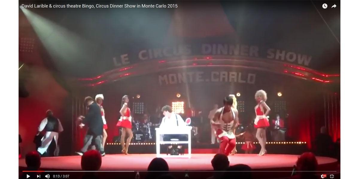 La metamorfosi sul palco... la magia della trasformazione... e di colpo ecco a voi il clown David Larible