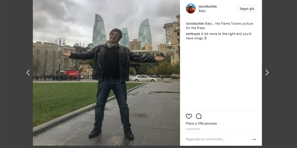Le Flames Towers di Baku - David Larible