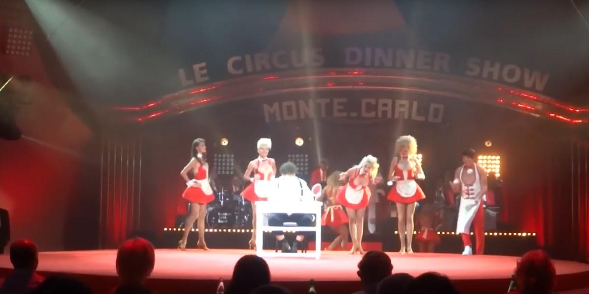 David Larible & circus theatre Bingo, Circus Dinner Show in Monte Carlo 2015